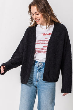 'Follow Me' Cardigan - Black
