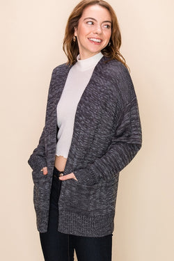 'Day After Day' Cardigan - Charcoal