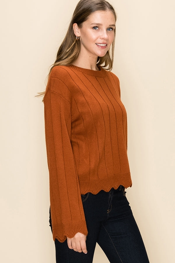 'Hold You Close' Sweater - Rust