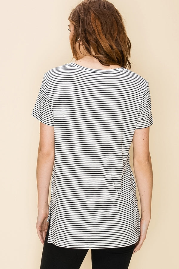 Everyday Pocket Tee - White/Black