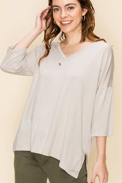 'Casual Day' Top - Moth Gray