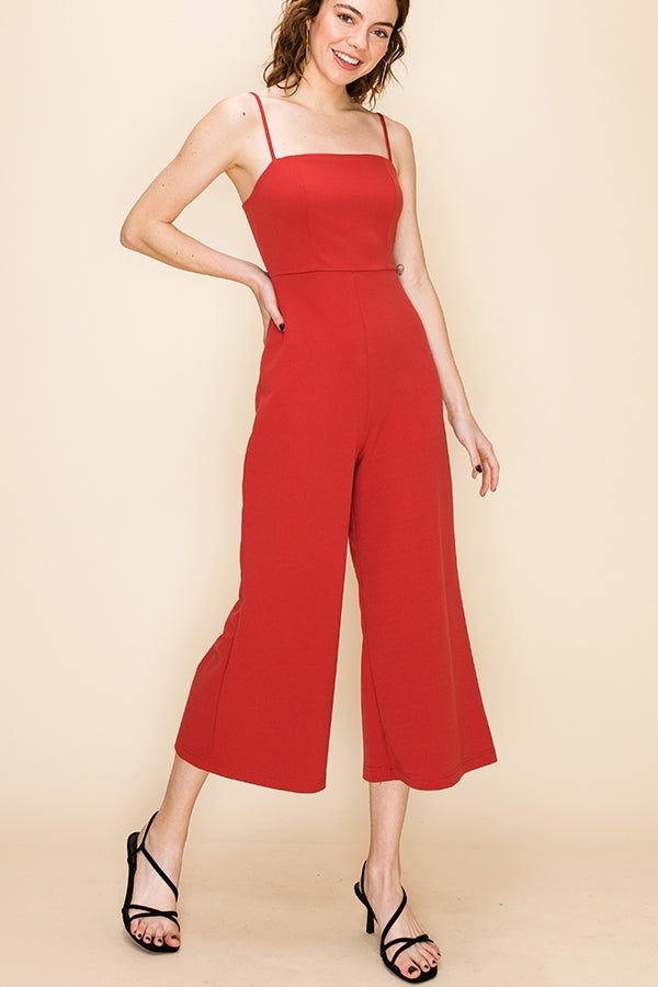 'Perfect Match' Jumpsuit - Clay
