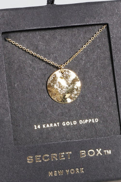 Hammered Coin Necklace - Gold