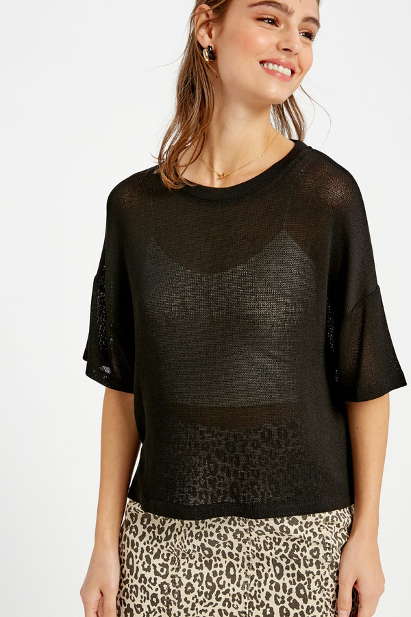 'Casual Obsession' Top - Black