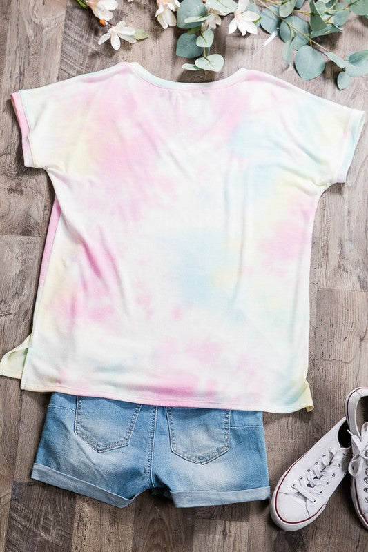 'Blur the Lines' Top - Pink Multi