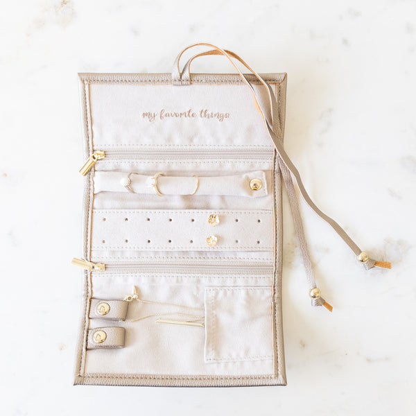 Gold Jewelry Organizer Roll