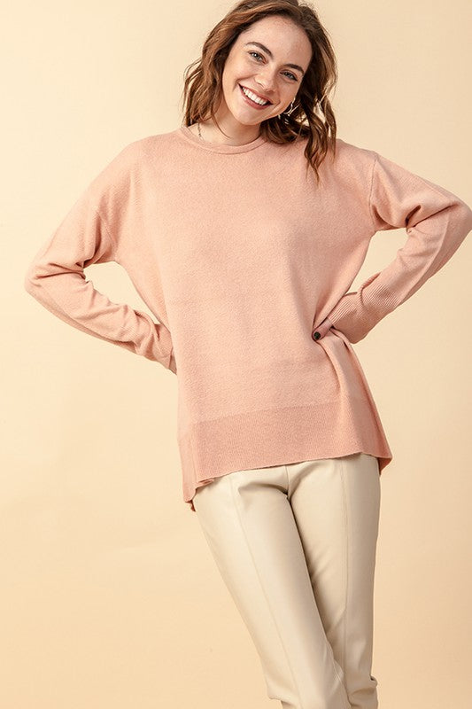 'Fall's Embrace' Sweater - Rose