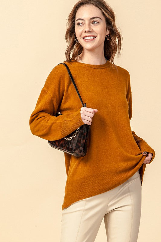 'Fall's Embrace' Sweater - Cinnamon