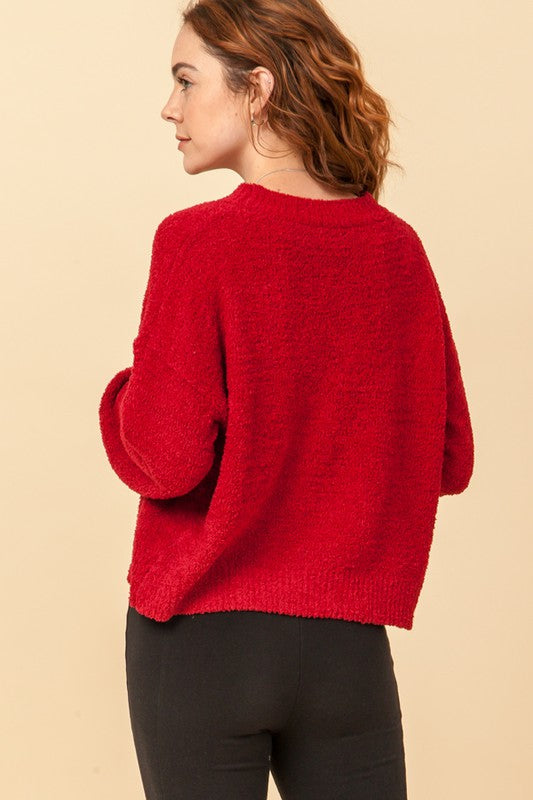 'Calling for You' Sweater - Maroon