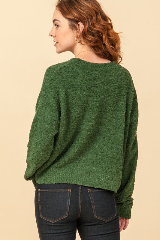'Calling for You' Sweater - Dark Green