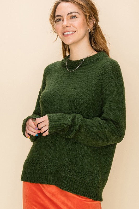 'Some Day Soon' Sweater - Dark Green