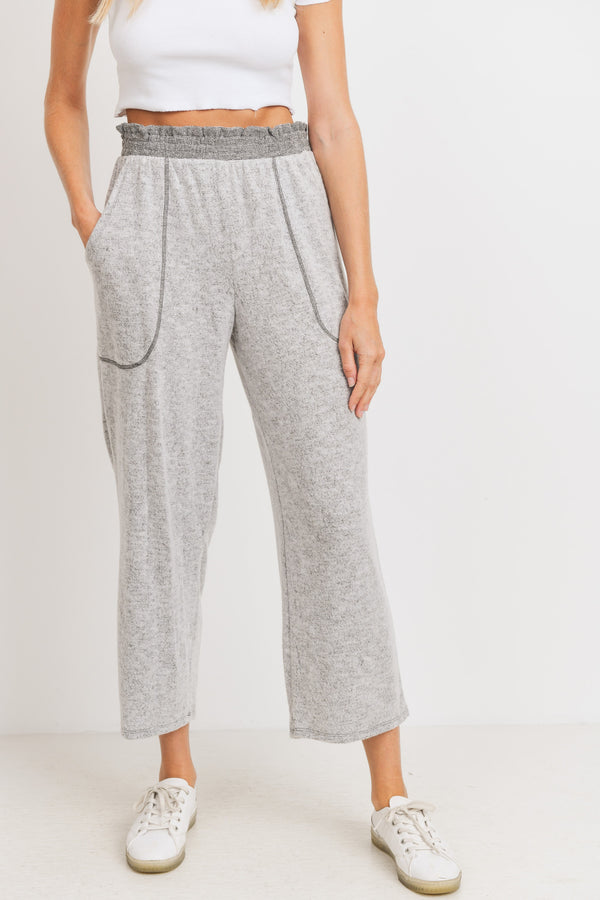 'Casual Times' Pants - Heather Gray