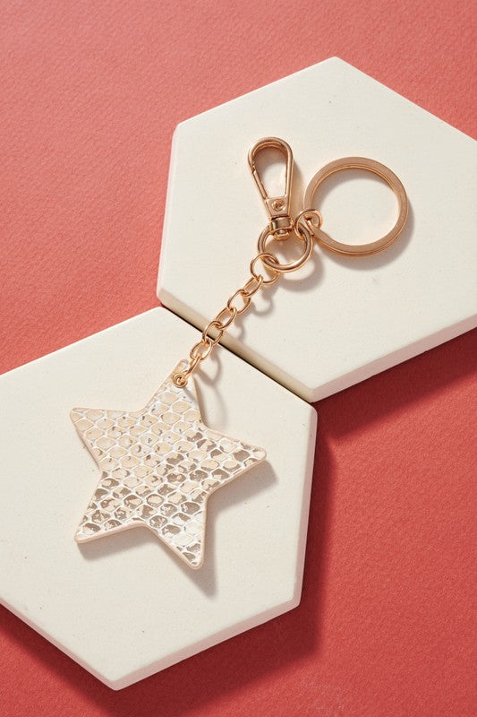 Metallic Star Keychain