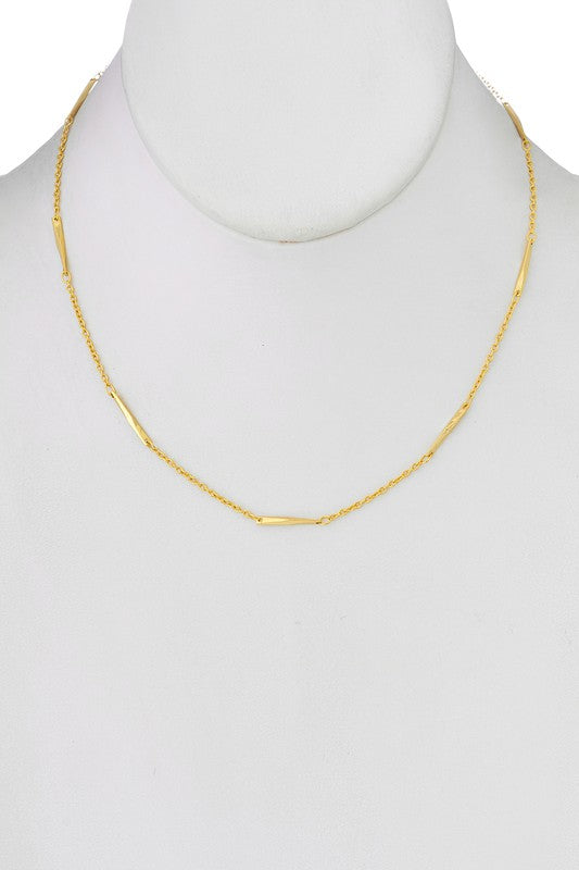 Chain Accent Necklace - Gold