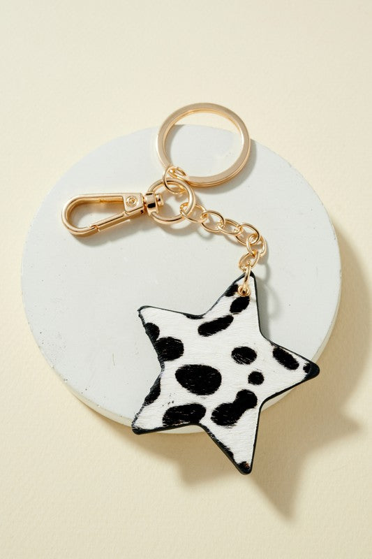 Star Keychain - Snow Cheetah