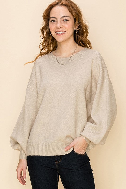 'Closely Watching' Sweater - Taupe