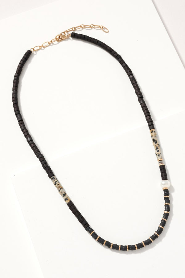 Beaded Necklace - Black