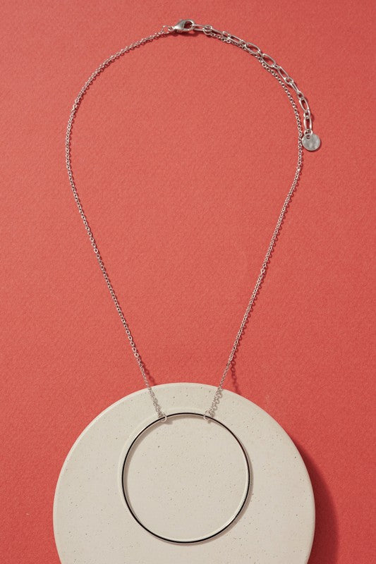 O Ring Necklace - Silver