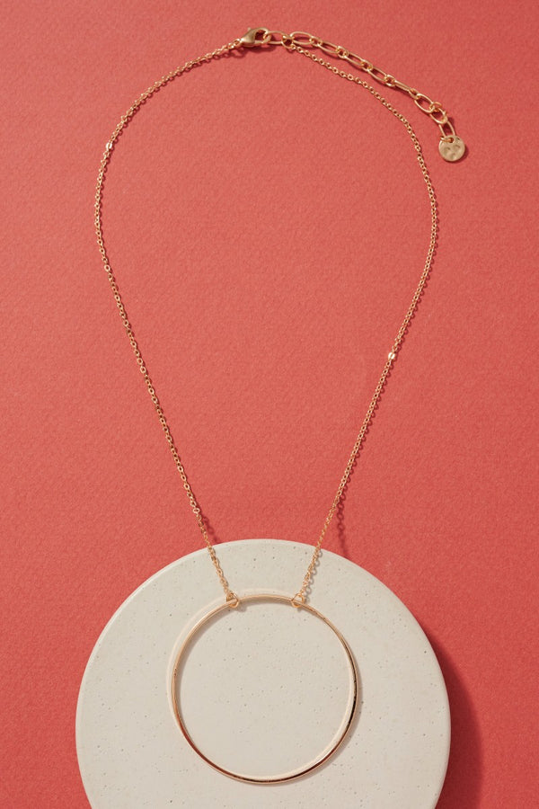 O Ring Necklace - Gold