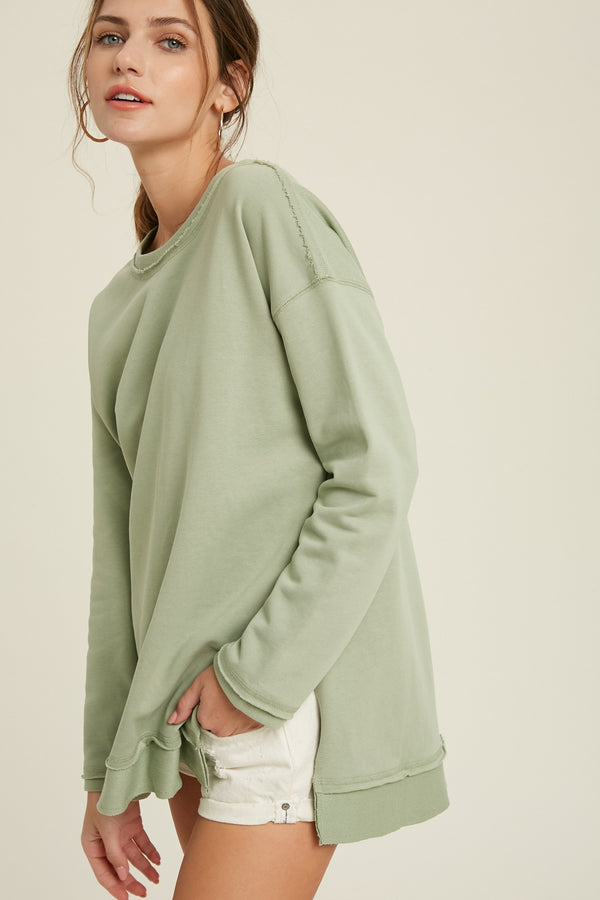 'Favorite Of All' Sweatshirt - Sage