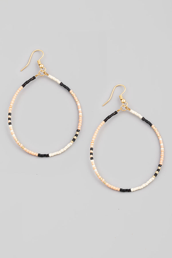 Thin Beaded Earrings