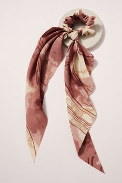 Abstract Scrunchie Scarf