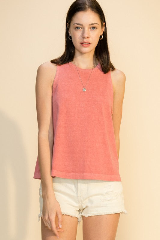 'Work It Out' Tank - Rose