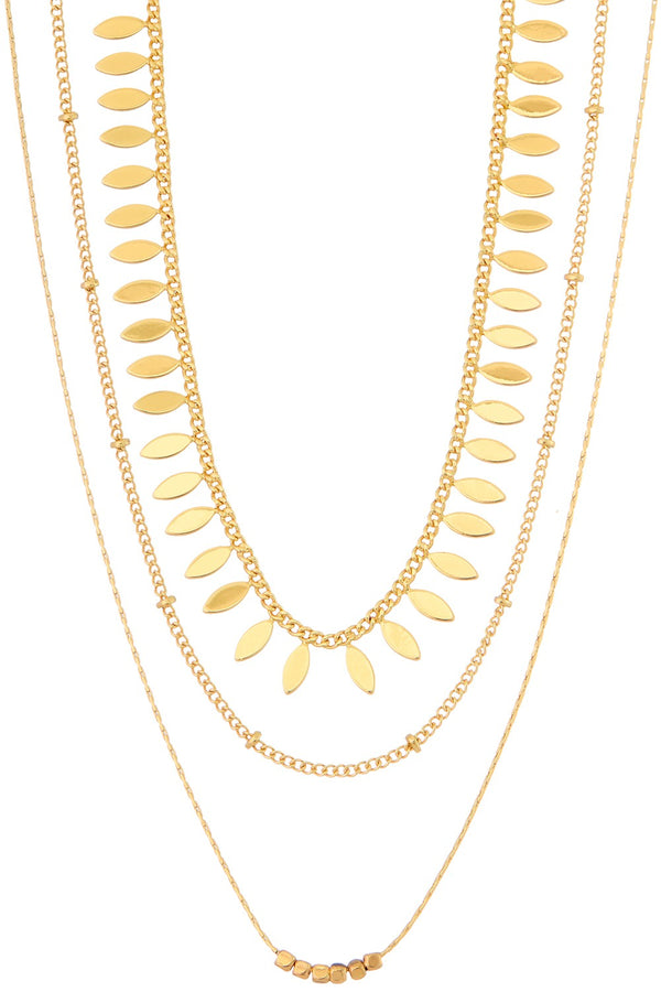 Choker Necklace Set - Gold
