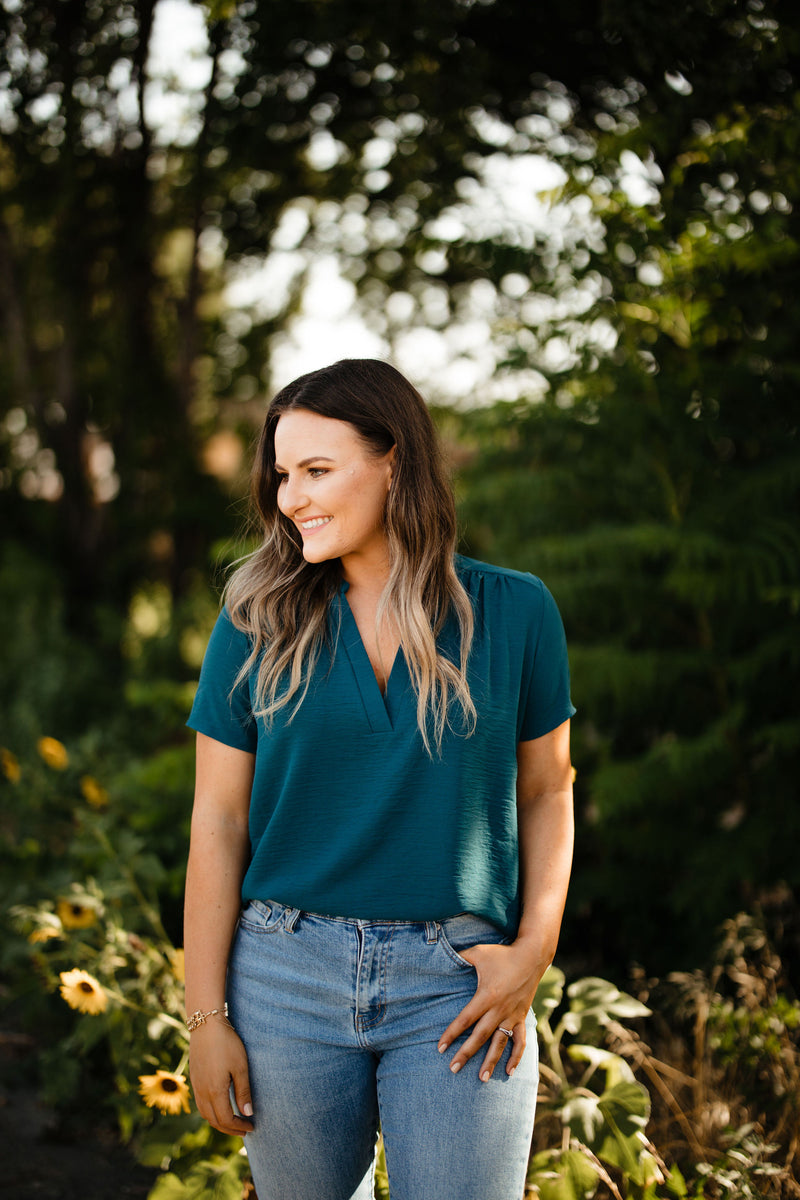 'Simple Favor' Top - Teal