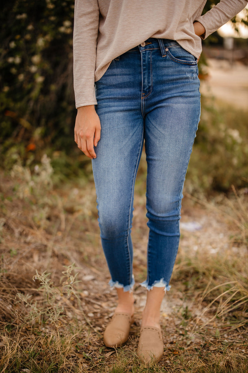 ankle detail jeans