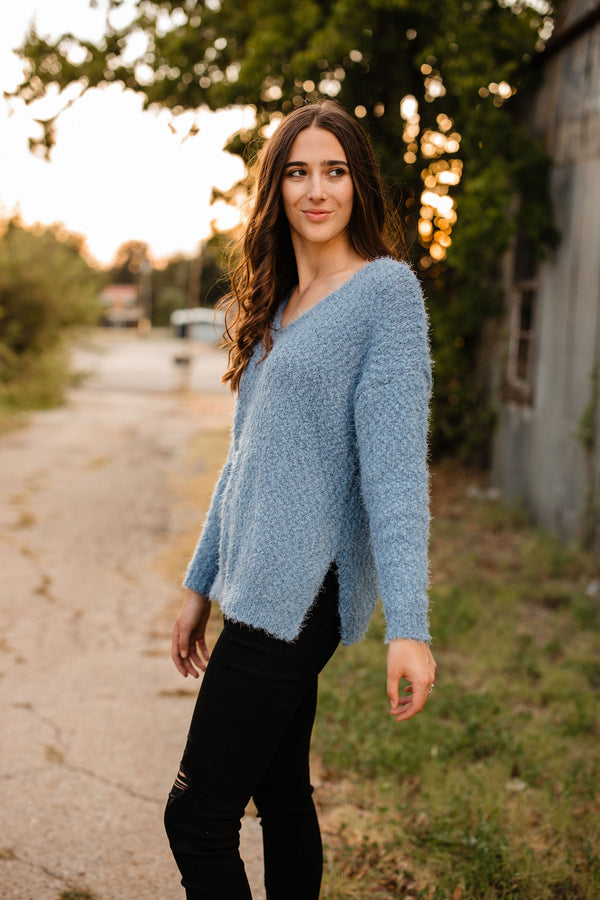 'Everybody's Favorite' Sweater - Blue Stone