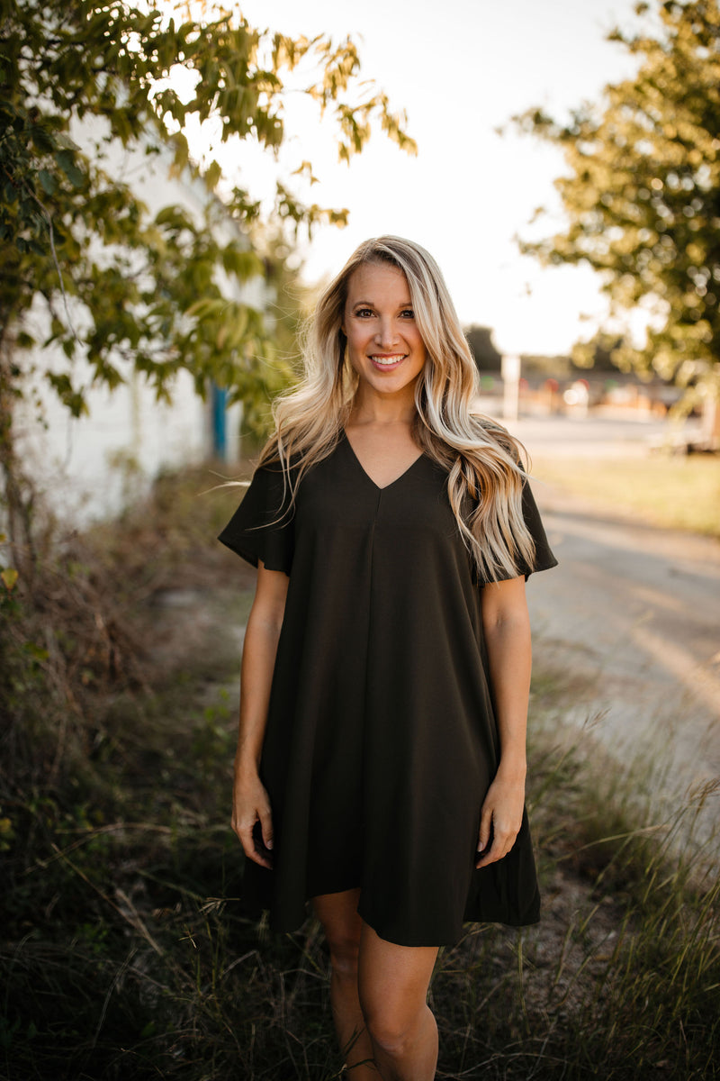 'Yes to Everything' Dress - Olive