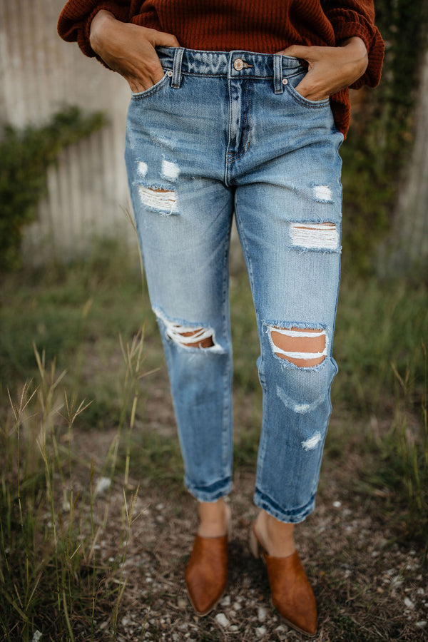 'Don't Give Up' Jeans