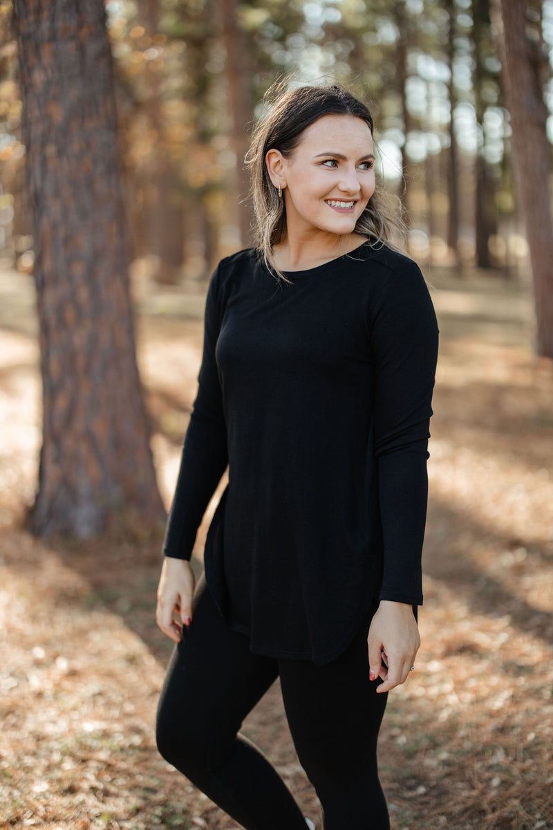 'Step On Up' Top - Black