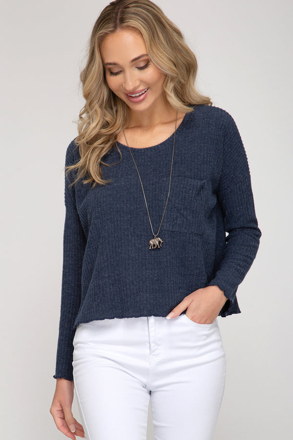 'Say When' Top - Navy