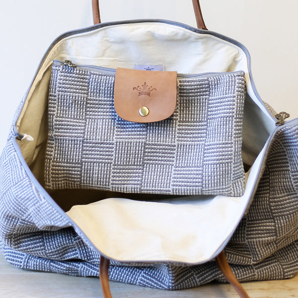 Gray Textured Weekender 2-in-1 Bag