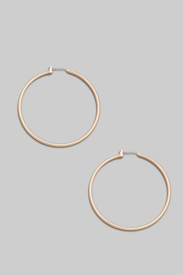 Thin Latch Hoop Earrings
