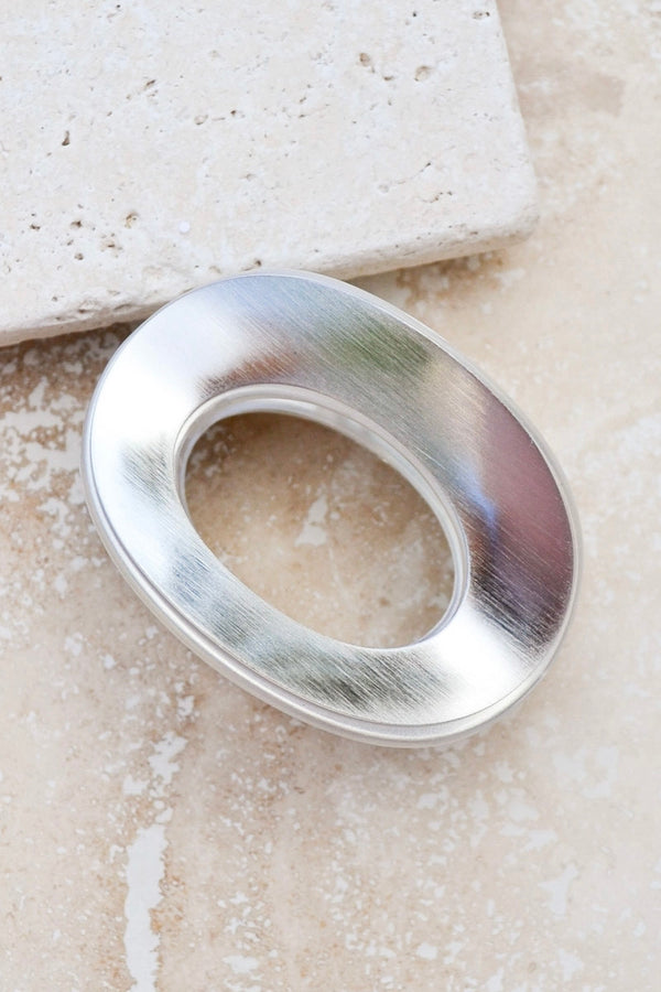 Silver Ring Claw Clip