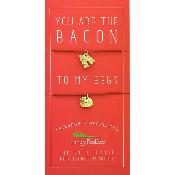 Friendship Necklace  Bacon/Eggs