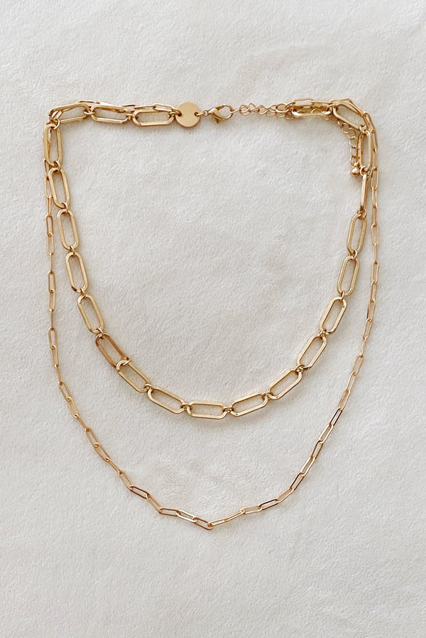Double Chain Link Necklace