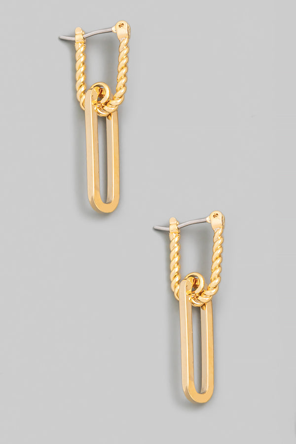Chain Latch Drop Earrings