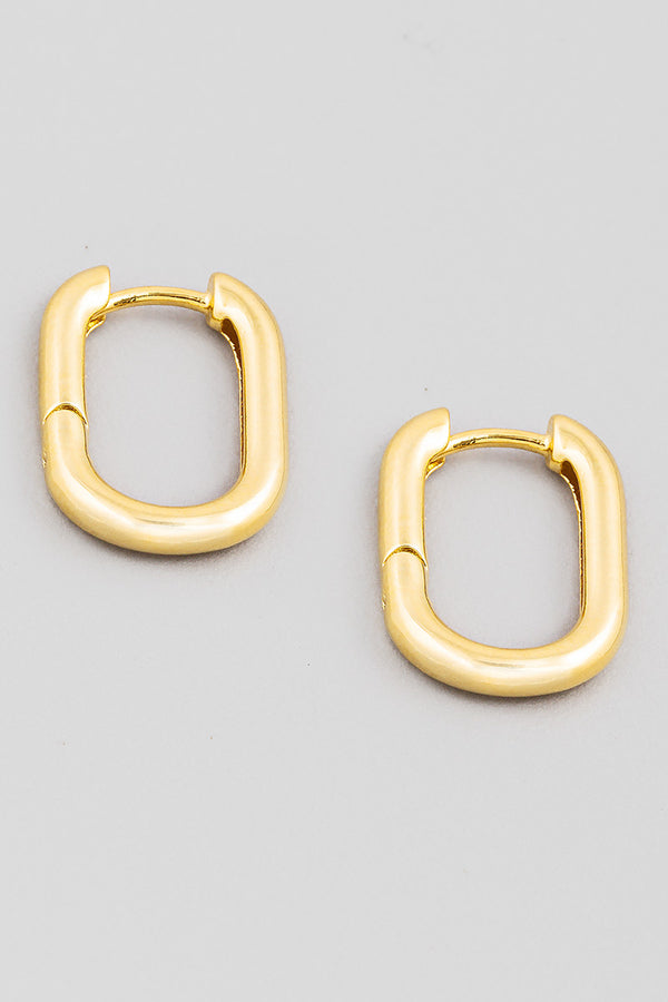 Oval Latch Earrings