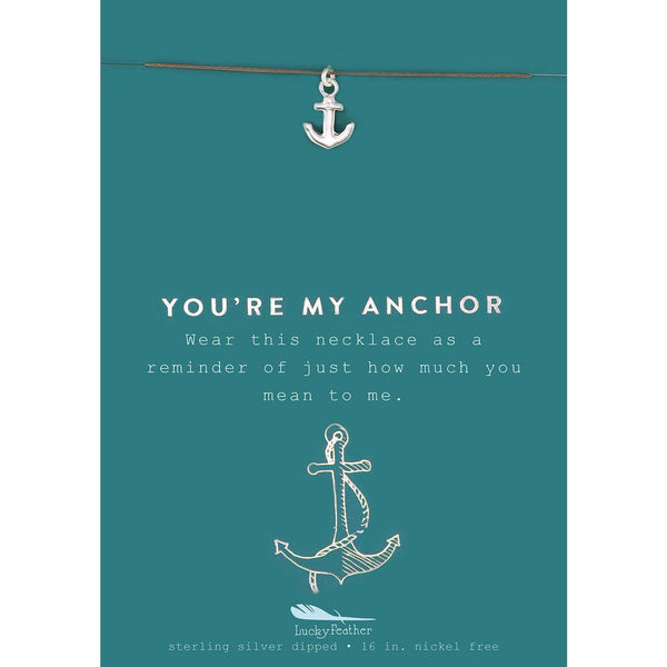 New Moon Necklace - Anchor