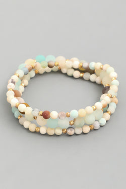 Beaded Bracelet Set - Amazonite