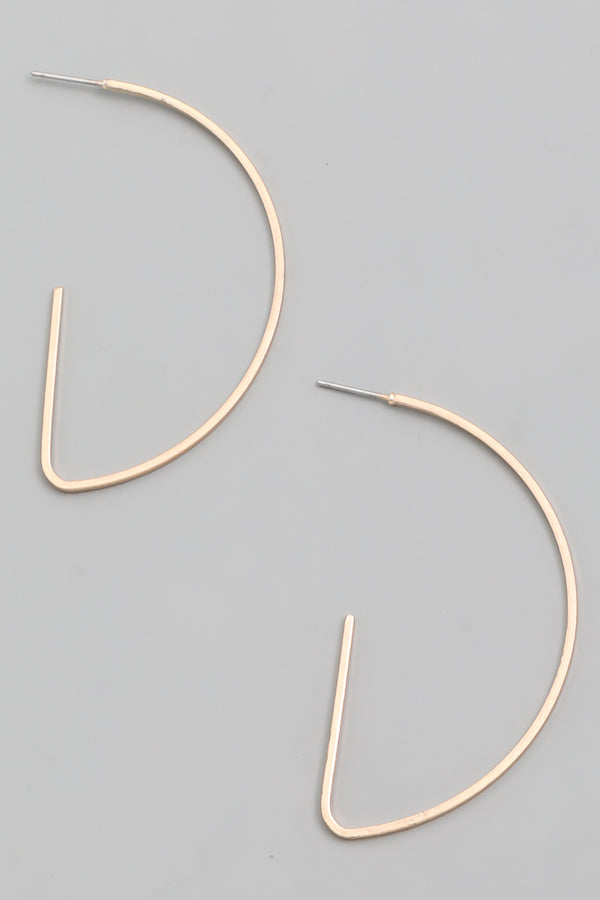 Thin Half Hoop Earrings