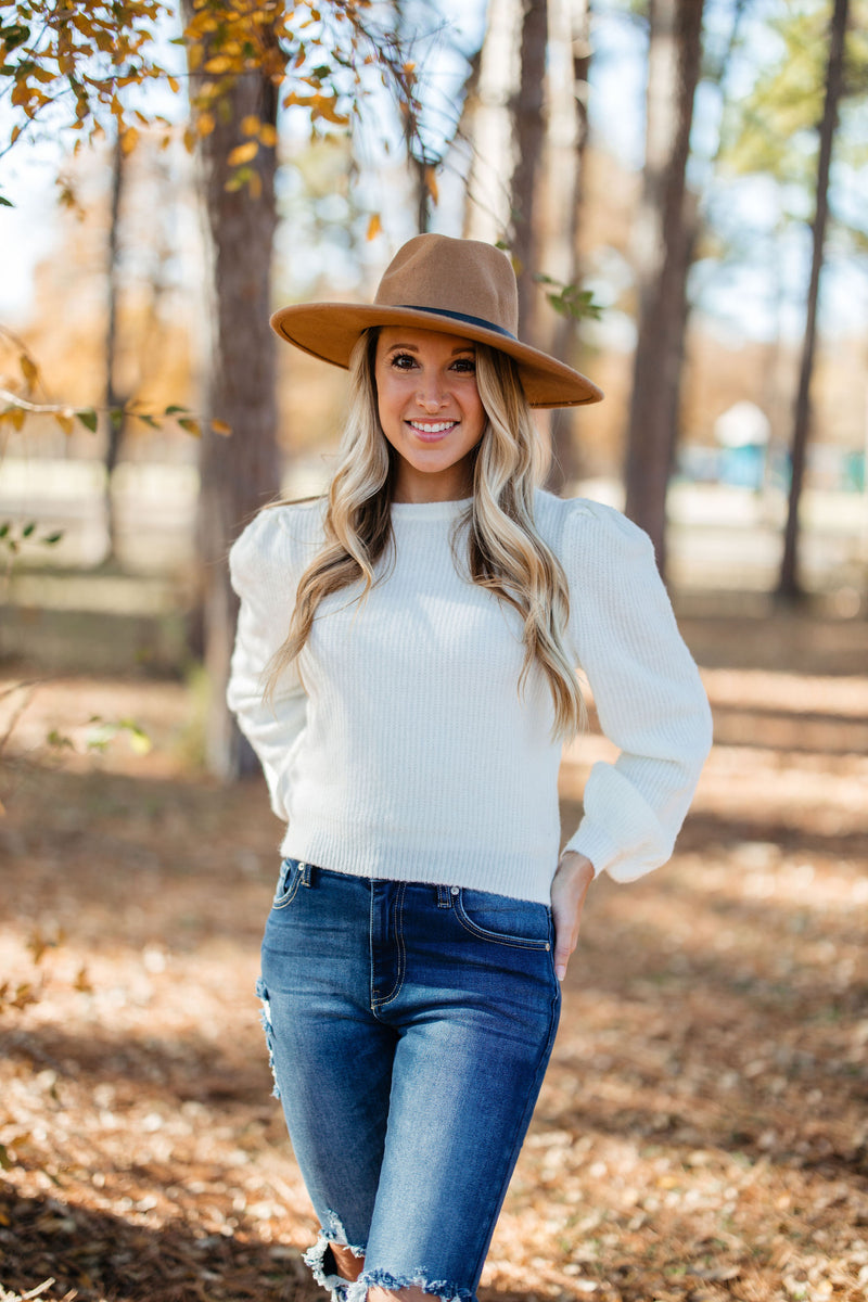 Puff Sweater - Ivory