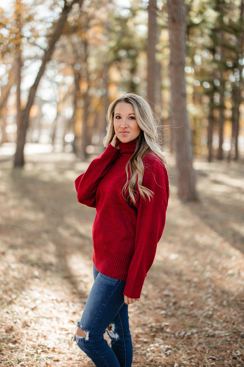 'Times Are Changing' Sweater - Maroon