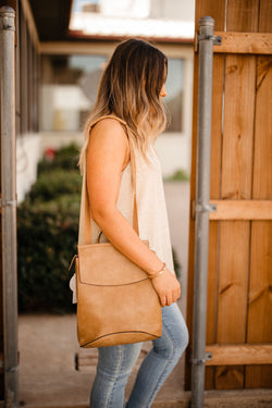 'Saved for Later' Convertible Bag - Taupe