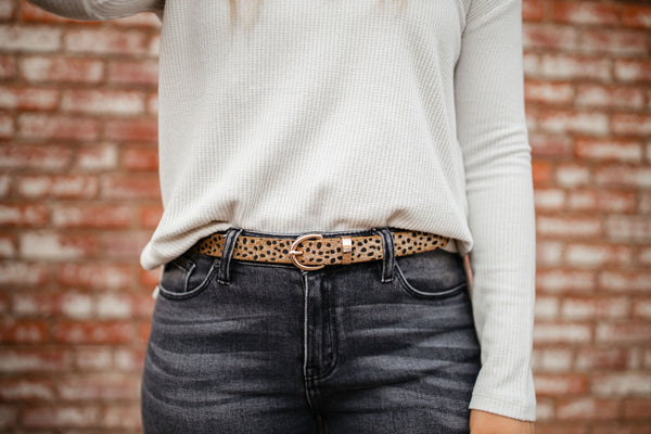 Thin Belt - Leopard