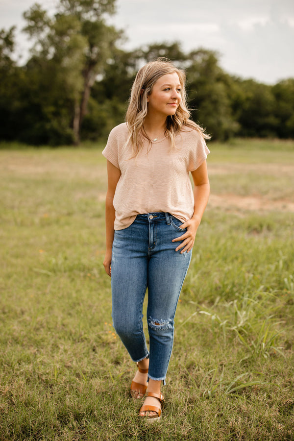 'Be There' Top - Blush